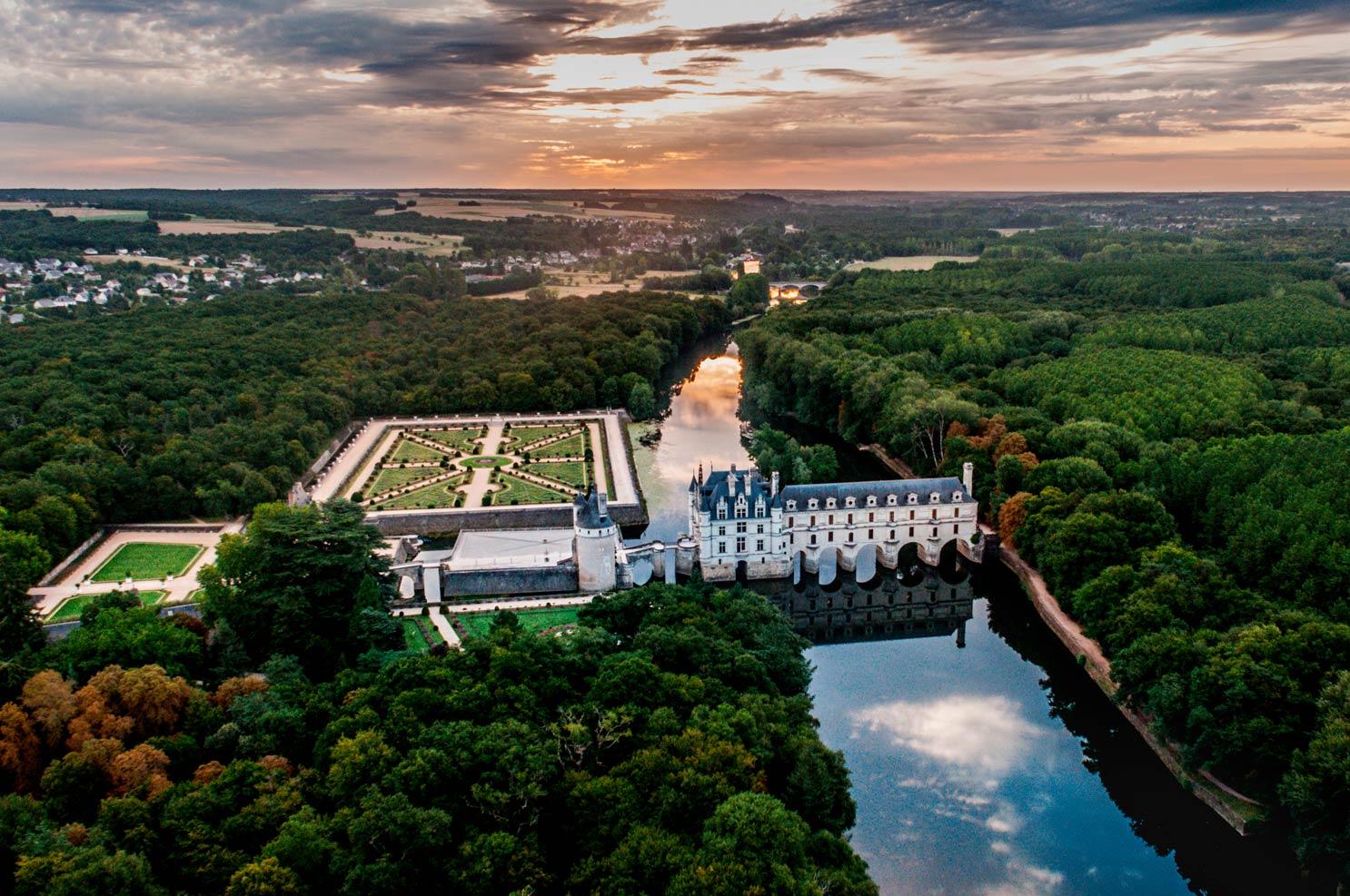 Château de Chenonceau | Vol en montgolfière